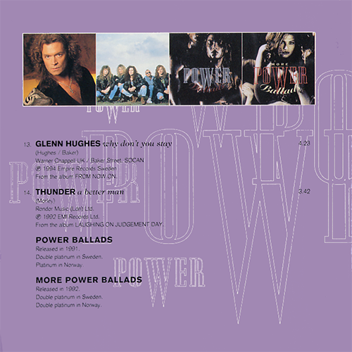 Even More Power Ballads Dan Reed Network