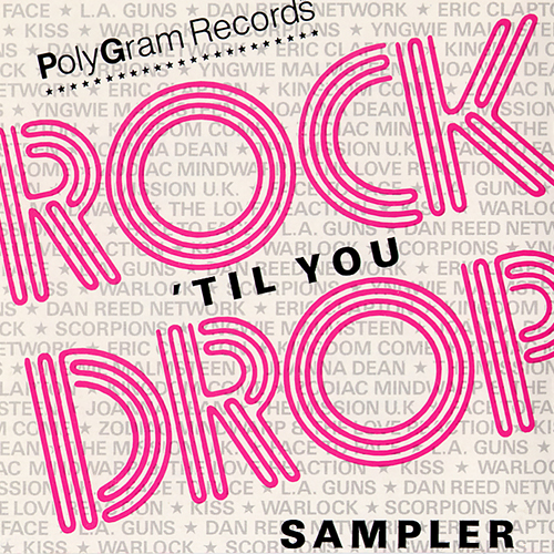 Rock 'Til You Drop Polygram Sampler Dan Reed Network