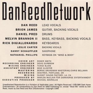 Dan Reed Network Breathless Cassette Insert