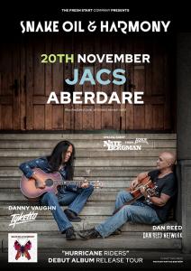 Snake Oil & Harmony - Jacs Aberdare Tour 2020