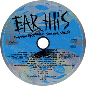 Ear This Polygram Promo CD Dan Reed Network