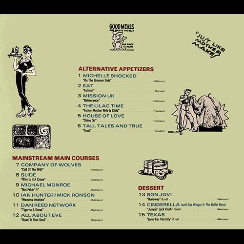 Mercury Menu Promo CD Dan Reed Network Bon Jovi