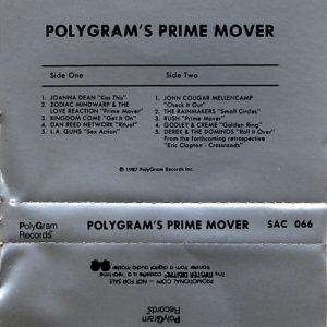 Prime Mover Polygram Promo Cassette Dan Reed Network